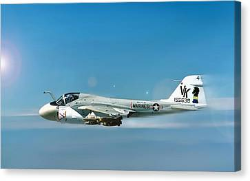 Carrier Canvas Print - Marine A-6 Intruder by Peter Chilelli