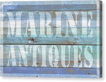 Marine Antiques Canvas Print