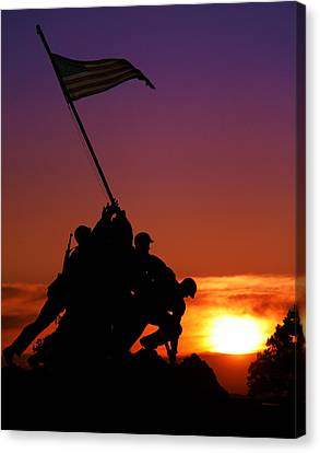 Marine Corps Memorial Canvas Print by Mitch Cat