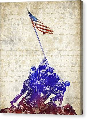 Memorial Canvas Print - Marine Corps War Memorial by Aged Pixel