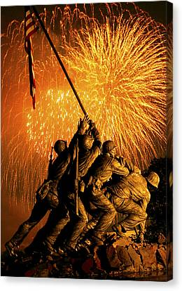 Marine Corps War Memorial Canvas Print by Government Photographer