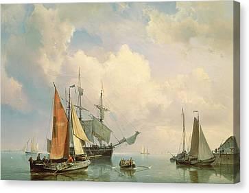 Rowboat Canvas Print - Marine  by Johannes Hermanus Koekkoek