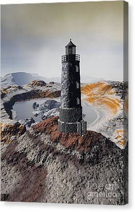 Marine Memory - Surrealism Canvas Print by Sipo Liimatainen