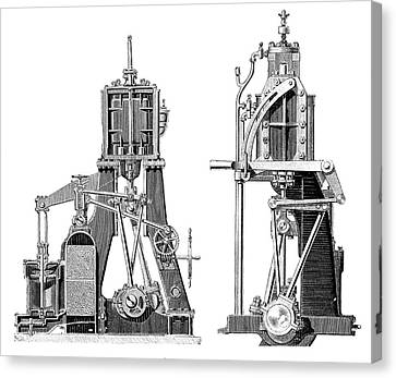 Marine Steam Engines Canvas Print by Science Photo Library