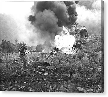 Marine With Flamethrower Canvas Print
