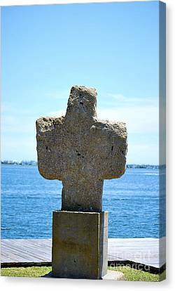 Canvas Print featuring the photograph Mariners Cross by Bob Sample