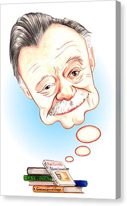 Mario Benedetti Canvas Print by Diego Abelenda