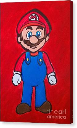 Canvas Print featuring the painting Mario by Marisela Mungia