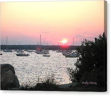 Canvas Print featuring the photograph Marion Massachusetts Bay by Kathy Barney