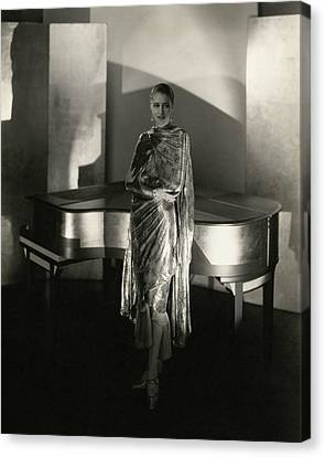 Marion Morehouse By A Piano Canvas Print by Edward Steichen