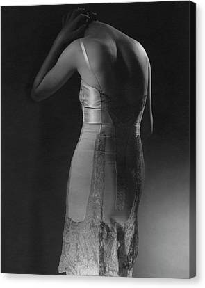 Corset Canvas Print - Marion Morehouse Wearing A Corset by Edward Steichen