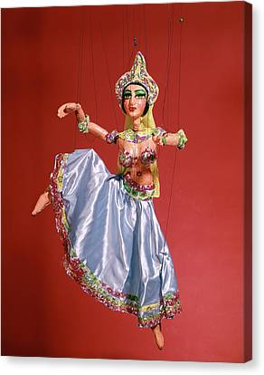 Marionette Canvas Print - Marionette Puppet Of Woman Belly Dancer by Vintage Images