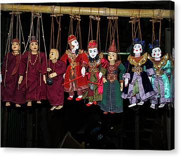 Marionettes For Sale At Bagan Market Canvas Print