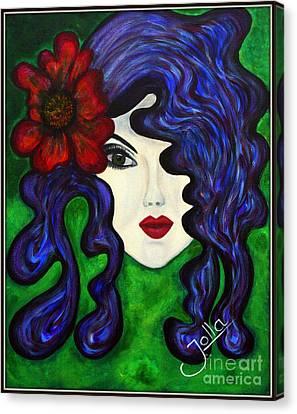 Canvas Print featuring the painting Mariposa Fairy Queen by Jolanta Anna Karolska