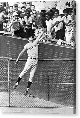 Maris Steals A Home Run Canvas Print by Underwood Archives