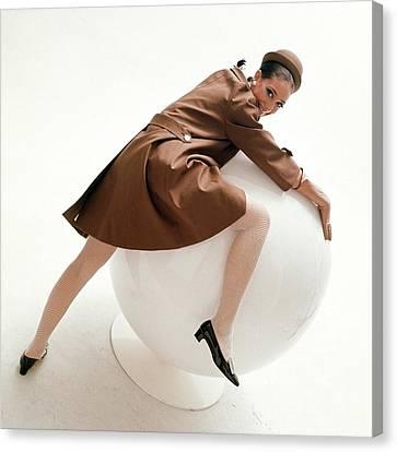 Marisa Berenson Posing On A Ball Canvas Print