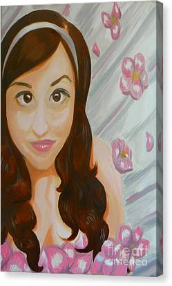 Canvas Print featuring the painting Marisela by Marisela Mungia