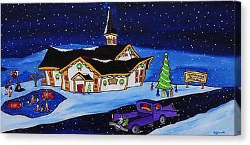 Maritime Christmas Canvas Print by Holly Everett