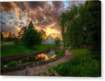 Conservatory Canvas Print - Marjorie Mcneely Conservatory Reflections by Wayne Moran