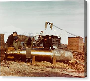 Mark 13 Torpedo Is Serviced By Navy Canvas Print