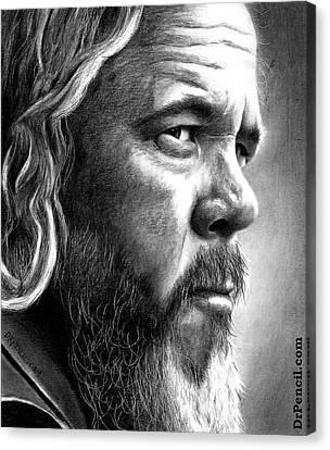 Mark Boone Jr Canvas Print by Rick Fortson