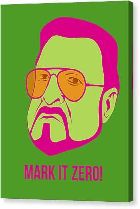 Mark It Zero Poster 2 Canvas Print by Naxart Studio