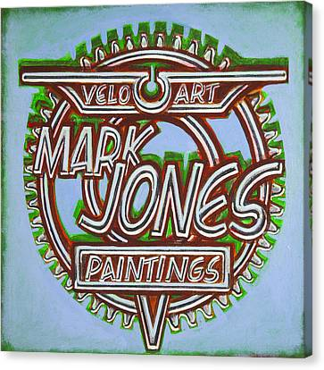 Canvas Print featuring the painting Mark Jones Velo Art Painting Blue by Mark Howard Jones