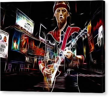 Modern Digital Art Canvas Print - Mark Knopfler by Steve K