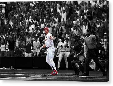 Mark Mcgwire Canvas Print by Brian Reaves