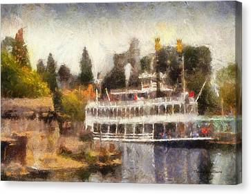 Mark Twain Riverboat Frontierland Disneyland Photo Art 02 Canvas Print