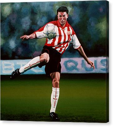 Mark Van Bommel Canvas Print by Paul Meijering