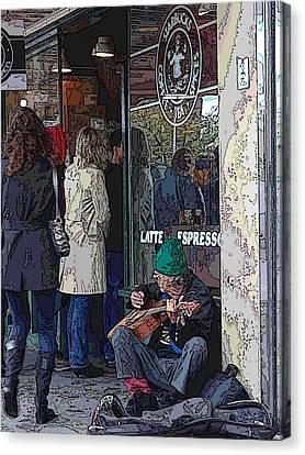 Market Buskers 13 Canvas Print