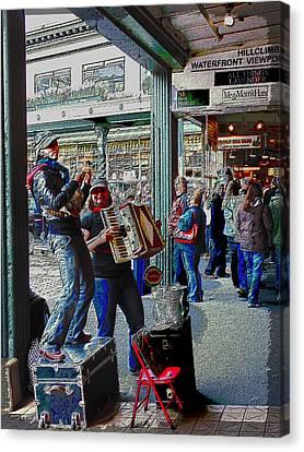 Market Buskers 5 Canvas Print
