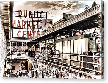 Market Center Canvas Print