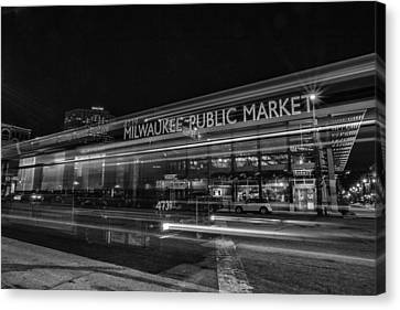Market Canvas Print by CJ Schmit