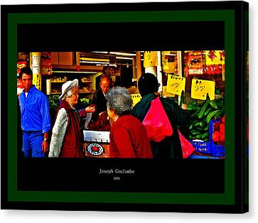 Market Day In Chinatown  Canvas Print by Joseph Coulombe