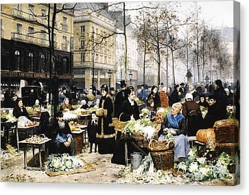Market Day Canvas Print by Victor Gabriel Gilbert