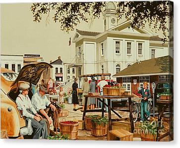Market Days Canvas Print by Michael Swanson