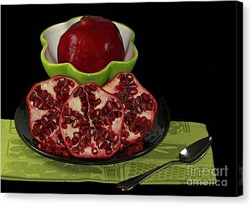 Market Fresh Pomegranate Fruit Canvas Print by Inspired Nature Photography Fine Art Photography