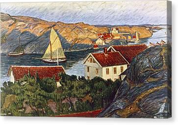 Market In A Coastal Place Canvas Print