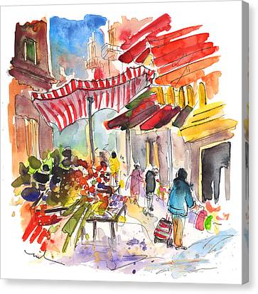 Market In Palermo 04 Canvas Print by Miki De Goodaboom