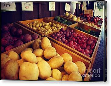 Canvas Print featuring the photograph Market by Sarah Mullin