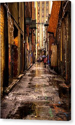 Market Square Alleyway - Knoxville Tennessee Canvas Print by David Patterson