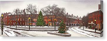 Market Square Christmas - 2013 Canvas Print by John Brown