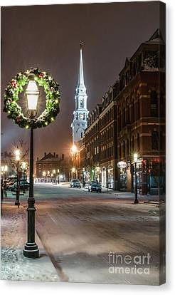 Market Square Christmas Canvas Print
