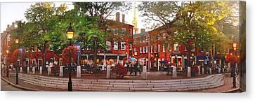 Market Square Summer - 2013 Canvas Print