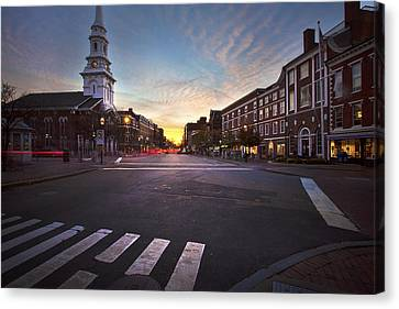 Market Square Sunset Canvas Print by Eric Gendron