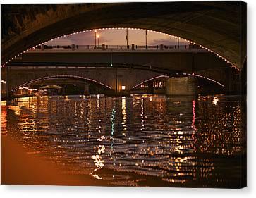 Market Street Bridge Philadelphia  Canvas Print by Kenny  Noddin