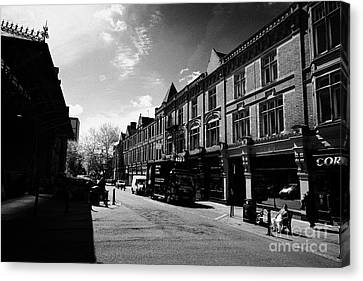 market street in Preston city centre England UK Canvas Print by Joe Fox
