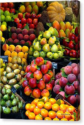 Market Time Canvas Print by Sue Melvin